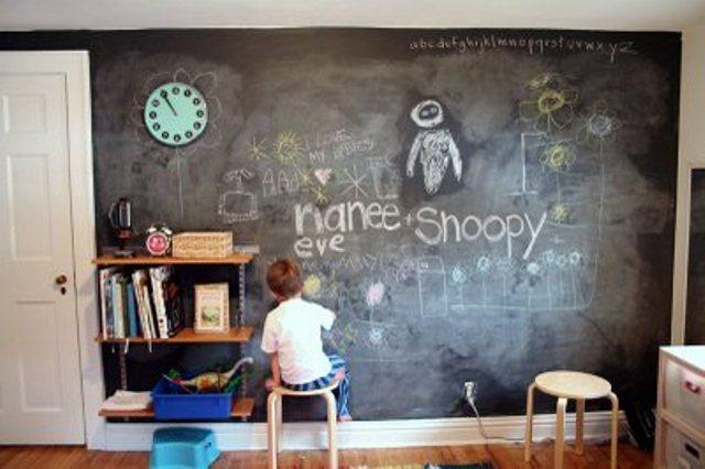 Jak pomalować pokój dziecka farbą tablicową?