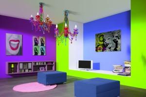 aranzacja-salonu-fiolet-nowoczesna