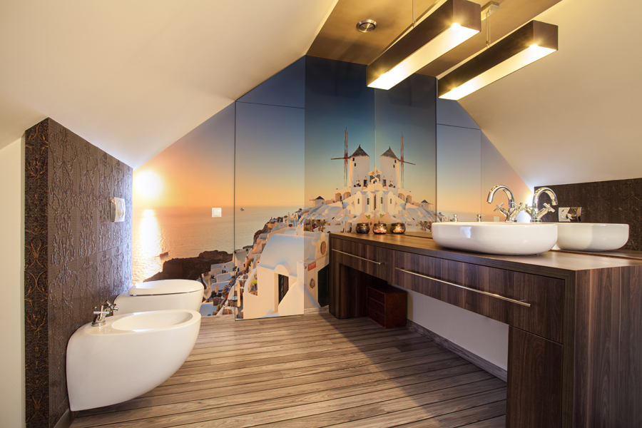 Country home - bathroom countertop